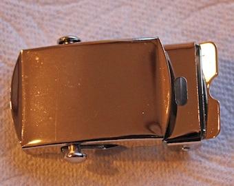 "Nickel Silver Buckle Military Style 1"" Buckle Quality Nickel Plated Buckle Heel Roller Locks Tight"