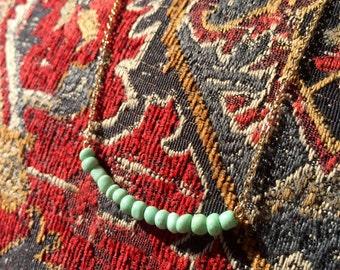 Seafoam Seed Bead Necklace
