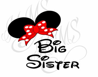 Big Sister Family Grandma Mickey Mouse Head Disney Family Download Iron On Craft Digital Disney Cruise Line Magnet Shirts