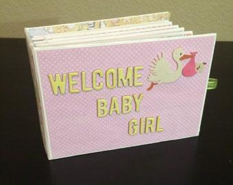 Handmade scrapbook baby girl
