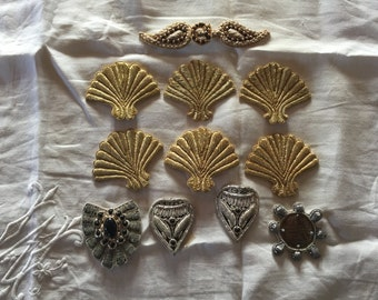 Vintage Applique Trims From Florence, Italy