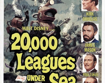 20,000 Leagues Under the Sea movie poster 11x17