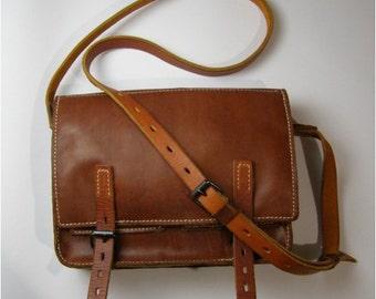 "Genuine leather messenger bag ""Exquisite vintage"" 100%HANDMADE *O001*"