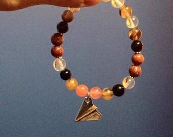 Paper bracelet Boho Paperplane/aircraft