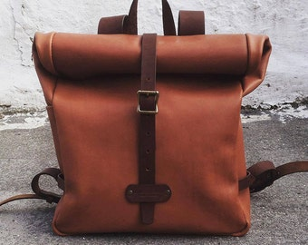 Leather backpack, womens backpack, leather backpack purse, mens backpack, travel backpack, leather rucksack, hipster backpack, school bag