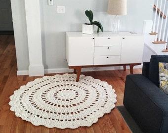 Super Soft Crochet Mandala Doily Rug