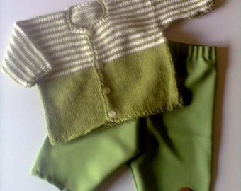 set jumper and green pants: 6 months