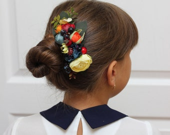 Flower comb Hair comb Flower accessory Wedding flower comb Bridesmaid floral comb Fall wedding Floral accessories