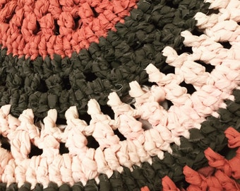 Crochet rag rug - recycled cotton