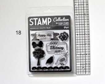 """American Crafts Stamp """"Ginger"""" Clear Stamps, Acrylic Stamps, Destash Stamps, Used Stamps"""