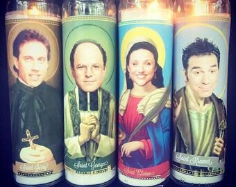 Cast of Seinfeld Devotional Saint Candle Set