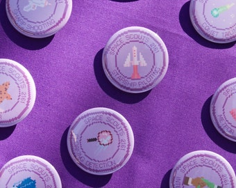 10 Space Scout Merit Badge Pins