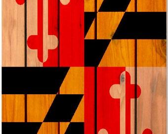 Maryland Flag Wood Planks Cornhole Wrap Bag Toss Decal Baggo Skin Sticker Wraps