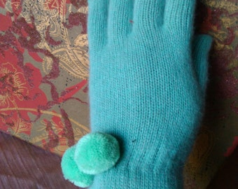 tall and fluffy wool gloves