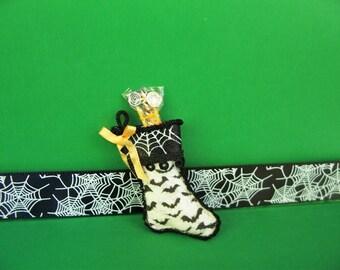 Miniature Halloween Bat Stockings-1:12 Scale-HalloweenStocking--Dollhouse Miniature