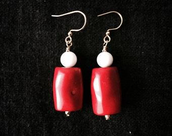 Bamboo coral earrings
