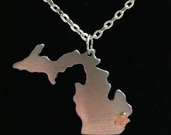 Detroit, Michigan Hometown Pride Necklace