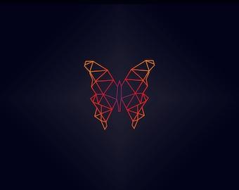 Geometric Butterfly Print
