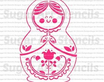 cookie stencil matryoshka Babushka NB30042-A