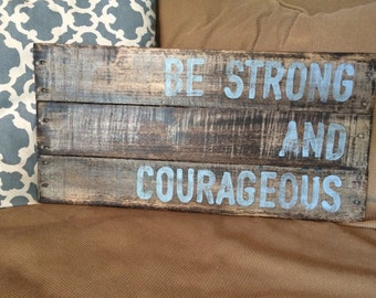 Wood pallet art handpainted with inspirational verse