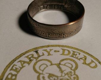 bicentennial quarter coin ring