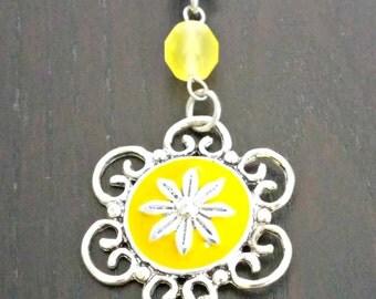Bag charm, Keychain yellow