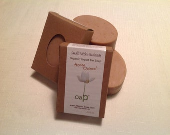 Organic Yogurt Bar Soap - Honey Oatmeal
