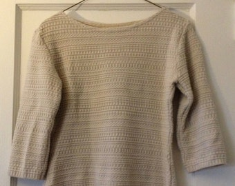 warm wool blend unbranded sweater size s-m