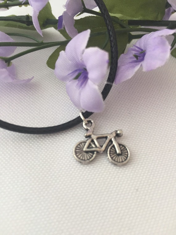 Bicycle Charm Necklace, Cycling Necklace, Bicycle Charms, Silver Bike Necklace, Sports Jewelry, Cycling Team Gift, Cyclist Gifts, Biker Gift