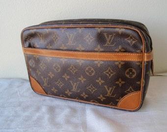 Louis Vuitton Compiegne 28 GM Monogram Clutch Bag Vintage 1991