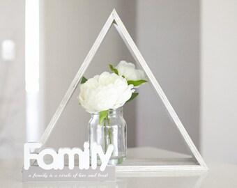 Triangle Wall Shelf or Desk Display Homeware - Custom Made