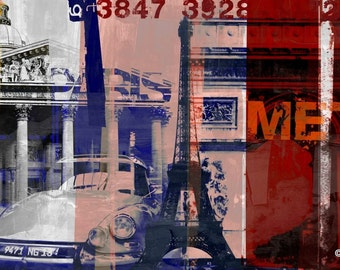 PARIS XXI by Sven Pfrommer - 140x70cm Artwork is ready to hang