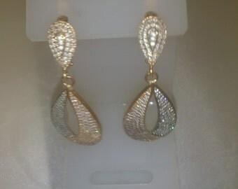 Golden earrings 14k Gold (585) 0,26 oz.