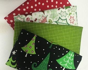 Four Christmas Fat Quarter Bundles
