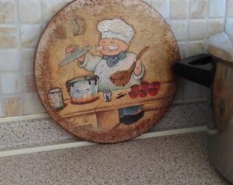 1 cork coasters/kitchen decor/table décor/cooking pot decor/pan coasters