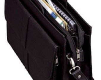 Aktentasche, Briefcase, Messenger, Bag, Leather Imitation, black