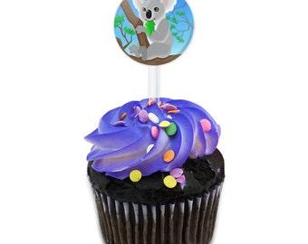 Koala Cake Cupcake Toppers Picks Set