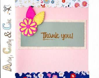 Greeting Card: Flowers and Thank You