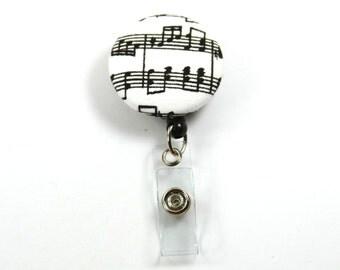 MUSICAL Fabric Lanyard, Fabric Lanyard, Music Notes Lanyard, Retractable Lanyard
