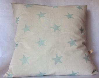 Bio cotton Cushion cover celadon stars
