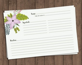 Spring recipe cards – Set of 20