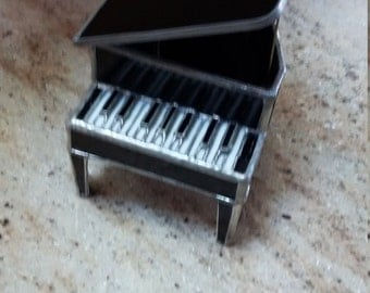 Stained Glass Piano Jewelry Box