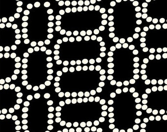 Black and White Downtown LB Krueger 37082 3 Windham Fabics - Black Polka Dot Fabric - Pearl Fabric - Textile Modern Fabric - AVTRFabrics