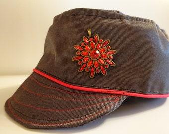 Red Piper Brooch Newsboy