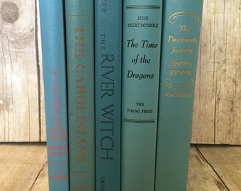 Blue Decorative Vintage Books
