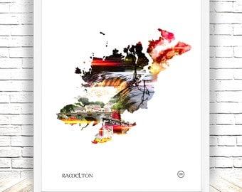 Ramelton Print Co Donegal,Wildatlanticway, Waterfall, Irish Village, Ireland,Football special, Wall Art, Wall Decor