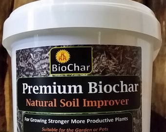 "4 L Biochar - ""Free Shipping"" Horticultural Charcoal, Natural Soil Improver"
