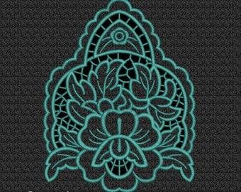 Floral- Richelieu cutwork - MACHINE EMBROIDERY DESIGN