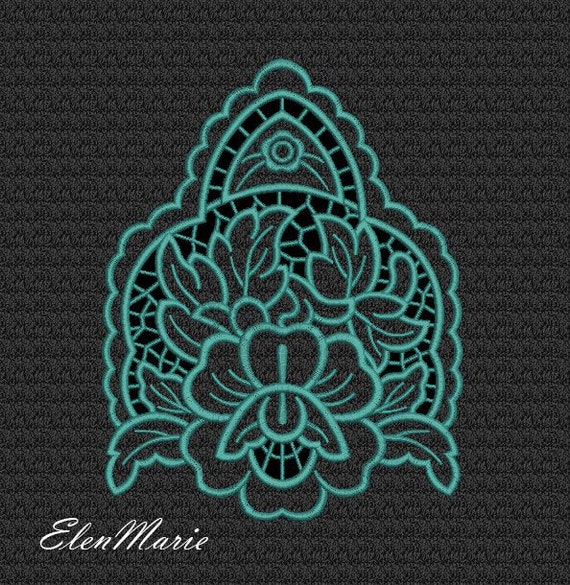 Floral richelieu cutwork machine embroidery design