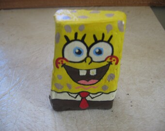 Sponge Bob Painted Rock